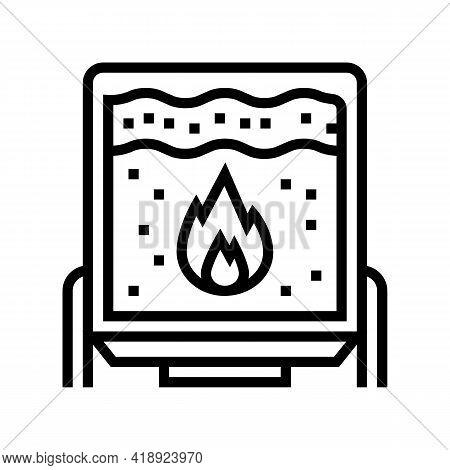Scalding Cheese Equipment Line Icon Vector. Scalding Cheese Equipment Sign. Isolated Contour Symbol