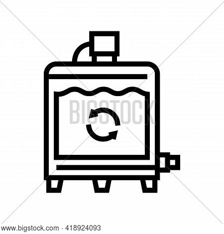 Equipment Preparing Process Cheese Production Line Icon Vector. Equipment Preparing Process Cheese P