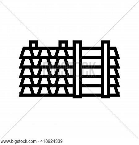 Floor Beams Concrete Line Icon Vector. Floor Beams Concrete Sign. Isolated Contour Symbol Black Illu