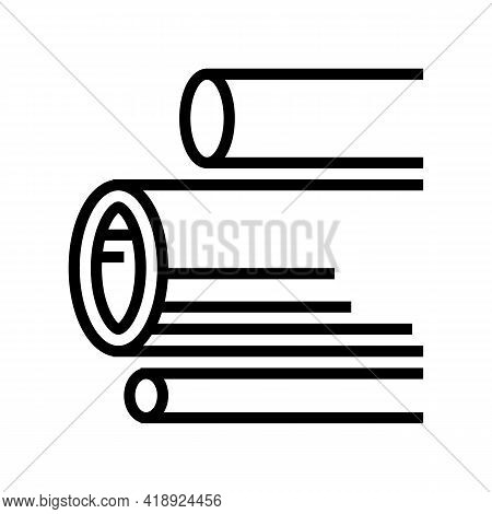 Water Pipes Concrete Line Icon Vector. Water Pipes Concrete Sign. Isolated Contour Symbol Black Illu