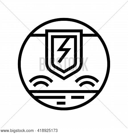 Hypersensitivity Skin Line Icon Vector. Hypersensitivity Skin Sign. Isolated Contour Symbol Black Il