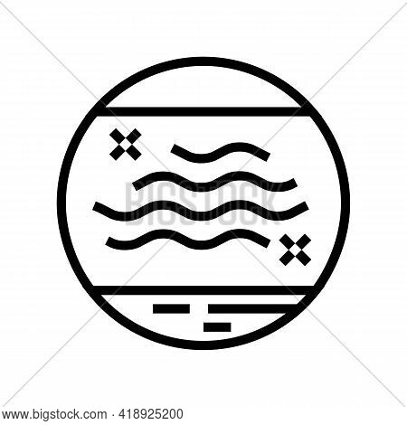 Dry Skin Line Icon Vector. Dry Skin Sign. Isolated Contour Symbol Black Illustration