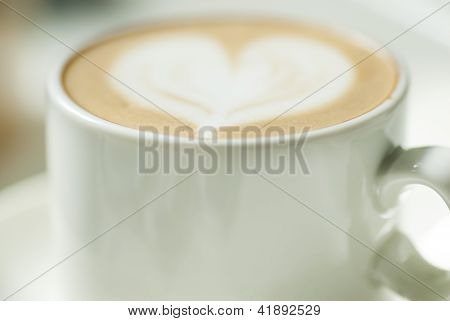 Latte Cup With Heart Design.