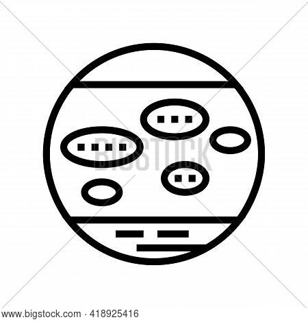 Nummular Eczema Line Icon Vector. Nummular Eczema Sign. Isolated Contour Symbol Black Illustration