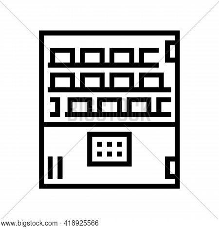 Cooling Pharmaceutical Production Line Icon Vector. Cooling Pharmaceutical Production Sign. Isolated
