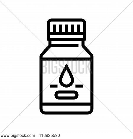 Syrup Pharmaceutical Production Line Icon Vector. Syrup Pharmaceutical Production Sign. Isolated Con