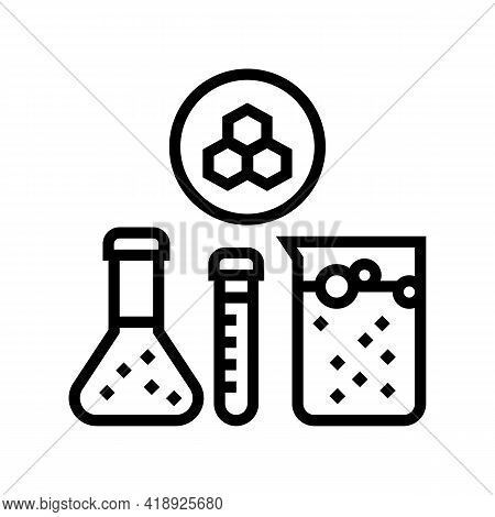 Chemical Substrate Pharmaceutical Production Line Icon Vector. Chemical Substrate Pharmaceutical Pro