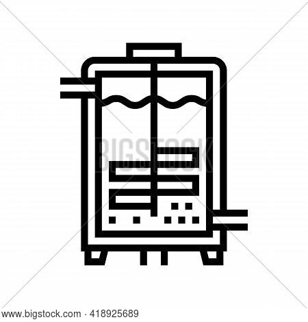 Fermentation Pharmaceutical Production Line Icon Vector. Fermentation Pharmaceutical Production Sign
