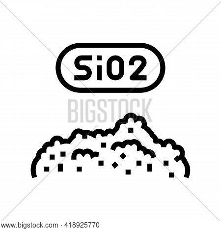 Sio2 Semiconductor Manufacturing Line Icon Vector. Sio2 Semiconductor Manufacturing Sign. Isolated C