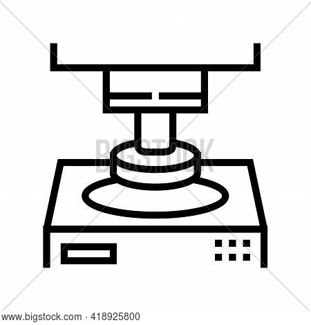 Press Equipment Semiconductor Manufacturing Line Icon Vector. Press Equipment Semiconductor Manufact