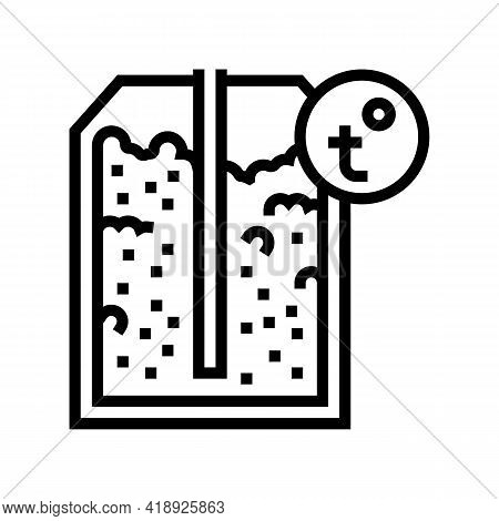 Heating Semiconductor Manufacturing Line Icon Vector. Heating Semiconductor Manufacturing Sign. Isol