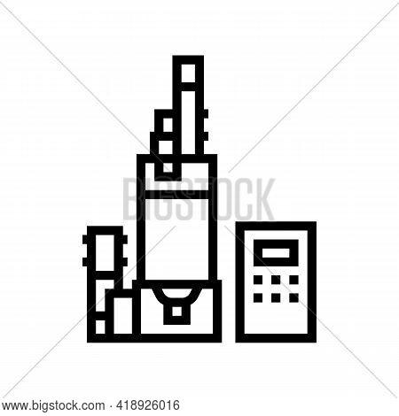 Digital Equipment Semiconductor Manufacturing Line Icon Vector. Digital Equipment Semiconductor Manu