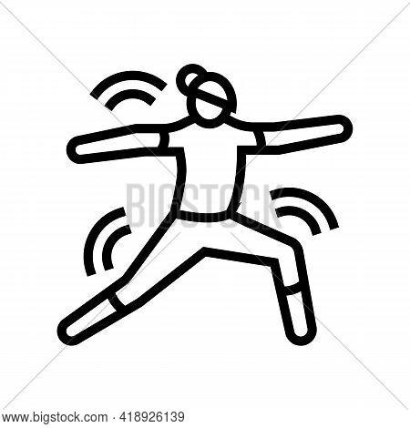Yoga Leisure Line Icon Vector. Yoga Leisure Sign. Isolated Contour Symbol Black Illustration