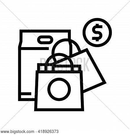 Shopping Leisure Line Icon Vector. Shopping Leisure Sign. Isolated Contour Symbol Black Illustration