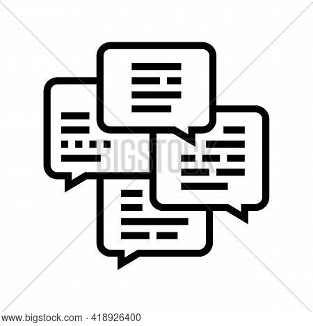 Conversation And Chatting Leisure Line Icon Vector. Conversation And Chatting Leisure Sign. Isolated