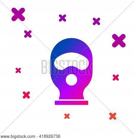 Color Balaclava Icon Isolated On White Background. A Piece Of Clothing For Winter Sports Or A Mask F