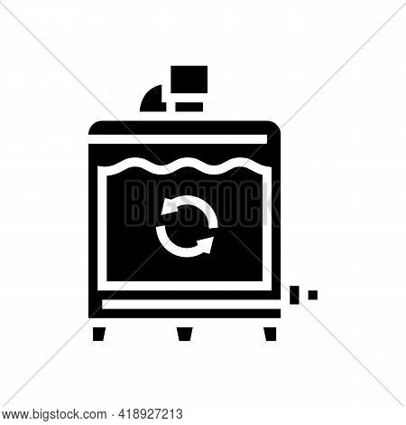 Equipment Preparing Process Cheese Production Glyph Icon Vector. Equipment Preparing Process Cheese