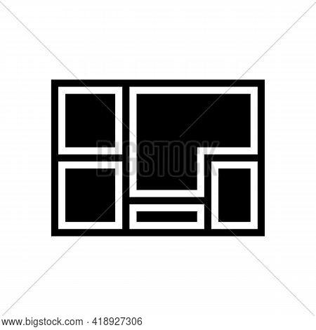 Foundation Concrete Glyph Icon Vector. Foundation Concrete Sign. Isolated Contour Symbol Black Illus