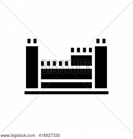Structure With Reinforcement Concrete Glyph Icon Vector. Structure With Reinforcement Concrete Sign.