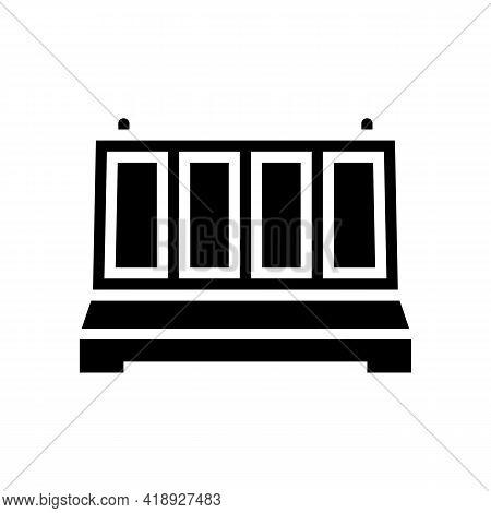 Fence Concrete Glyph Icon Vector. Fence Concrete Sign. Isolated Contour Symbol Black Illustration
