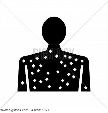 Skin Rash Disease Glyph Icon Vector. Skin Rash Disease Sign. Isolated Contour Symbol Black Illustrat