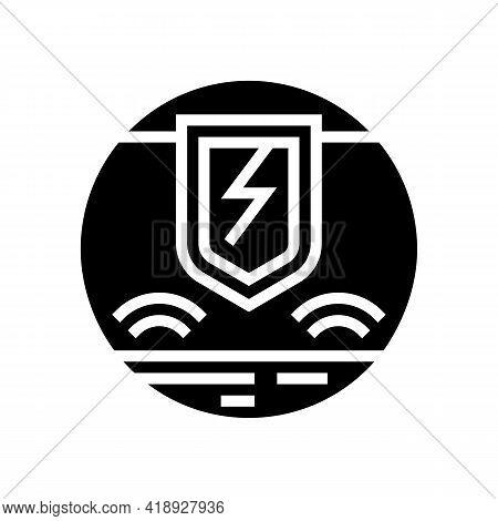 Hypersensitivity Skin Glyph Icon Vector. Hypersensitivity Skin Sign. Isolated Contour Symbol Black I