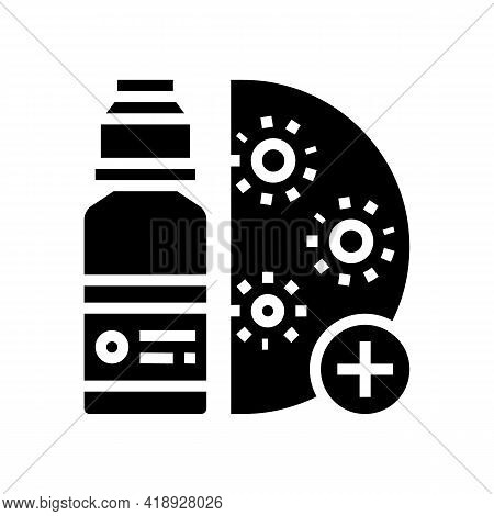 Drugs Infection Treatment Glyph Icon Vector. Drugs Infection Treatment Sign. Isolated Contour Symbol