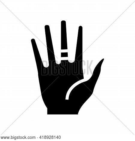 Contact Dermatitis Glyph Icon Vector. Contact Dermatitis Sign. Isolated Contour Symbol Black Illustr