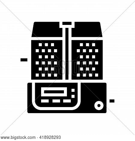 Mixing Pharmaceutical Production Glyph Icon Vector. Mixing Pharmaceutical Production Sign. Isolated