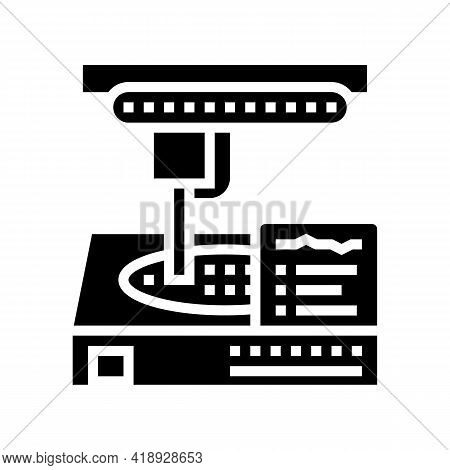 Manufacturing Factory Equipment Semiconductor Glyph Icon Vector. Manufacturing Factory Equipment Sem
