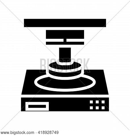 Press Equipment Semiconductor Manufacturing Glyph Icon Vector. Press Equipment Semiconductor Manufac