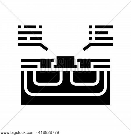 Characteristics Semiconductor Glyph Icon Vector. Characteristics Semiconductor Sign. Isolated Contou