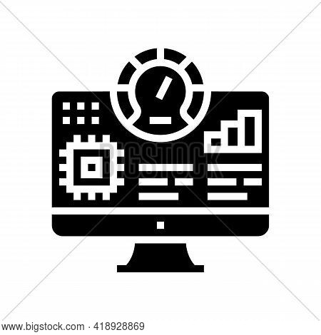 Testing Semiconductor Manufacturing Glyph Icon Vector. Testing Semiconductor Manufacturing Sign. Iso