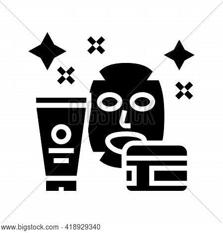 Cosmetology Leisure Glyph Icon Vector. Cosmetology Leisure Sign. Isolated Contour Symbol Black Illus