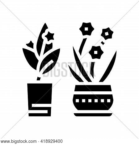 Flowers Leisure Glyph Icon Vector. Flowers Leisure Sign. Isolated Contour Symbol Black Illustration