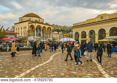 Monastiraki Square, Athens Greece