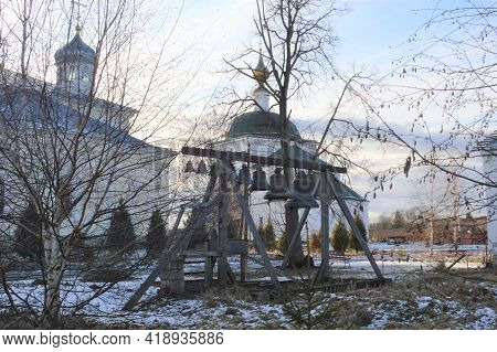 Russia, Kaluga Region, Marfino Manor, St. George Meshchovsky Monastery, Belfry