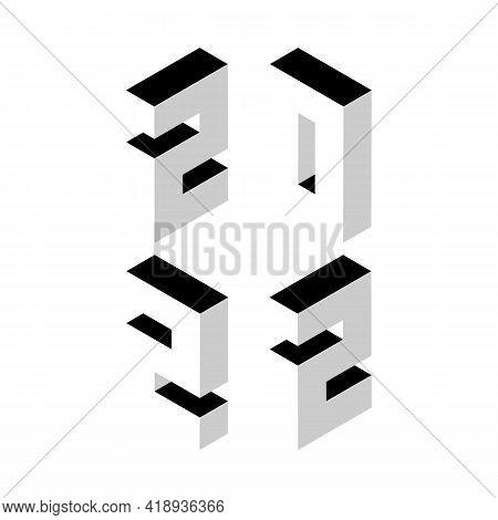 Winter Holiday Logo Set For New Year 2022 Celebration. Modern Christmas Design For Banner, Poster, C