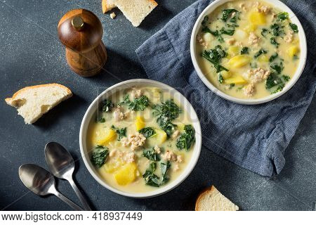 Homemade Potatoe And Sausage Toscana Soup