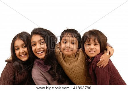 Indian Brother with Three Sisters