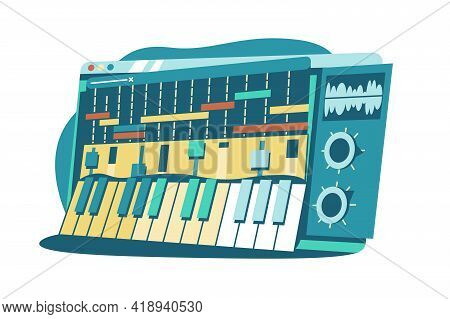 Interface For Composing Music Vector Illustration. Sound