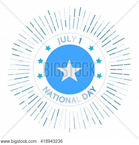 Somalia National Day Badge. Union Of The Trust Territory Of Somalia And British Somaliland To Form T