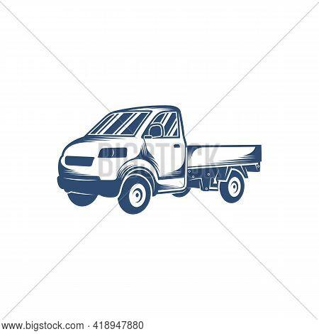 Pick Up Truck Design Vector Illustration, Creative Pick Up Truck Logo Design Concept Template, Symbo