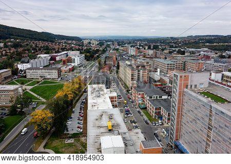 Zlin, Czech Republic - September 27, 2019: Landscape With Buildings Of Batuv Institut, Museum, And O