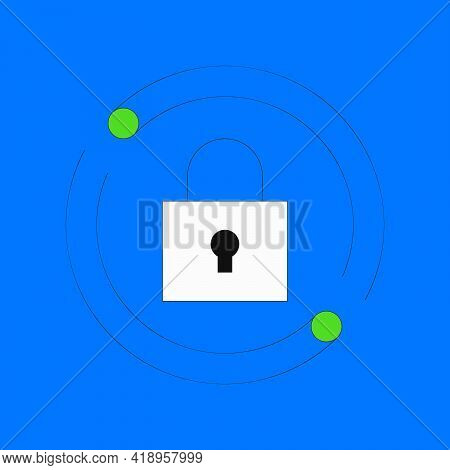 Reset Password Vector Illustration. Padlock With Reload Symbol. Change Password Concept Isolated On
