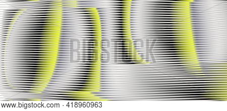 Moire Abstract Linear Textured Web Banner With Lines In Trendy Colors Of The Year Yellow Illuminatin