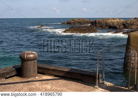 St. Abbs Harbour Entrance And View Of North Sea