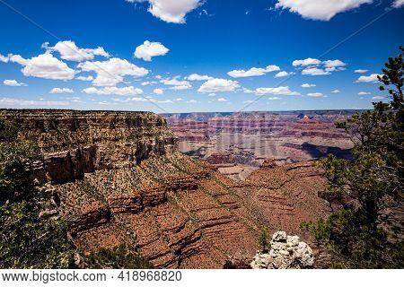 Sightseeing. Grand Canyon Landmark. Arizona Landscapes. Usa National Park. Geology Concept.