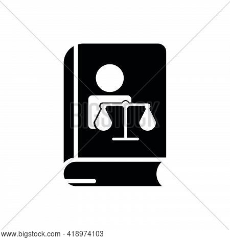 Book And People Icon With Law. Editable Stroke. Design Template Vector