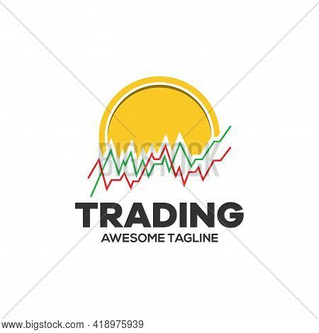 Cryptocurrency Trading Logo. Financial Logo. Candlestick Trading Logo. Trading Stock Symbol. Trading